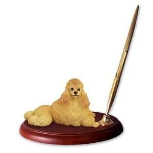 Poodle Dog Desk Set   Apricot