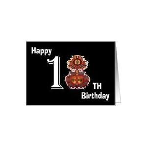 Happy 18th Birthday Son traditional carpet flower Card: Toys & Games