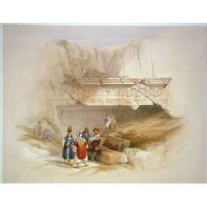 the tombs of the kings,Jerusalem,Israel,1842,Holy Land,David Roberts
