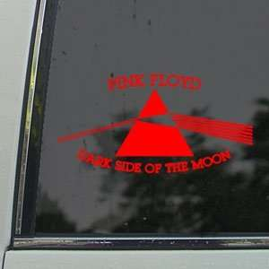 Pink Floyd Red Decal Dark Side Of The Moon Car Red Sticker