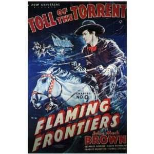 Flaming Frontiers Movie Poster (27 x 40 Inches   69cm x