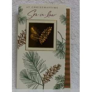 Christmas Card For Son  In Law  Leaf  Each