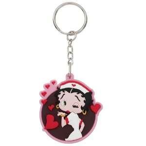 Nurse Betty Boop Hearts Key Tag