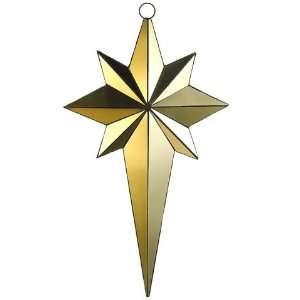 36 Mirror Northern Star Ornament Gold
