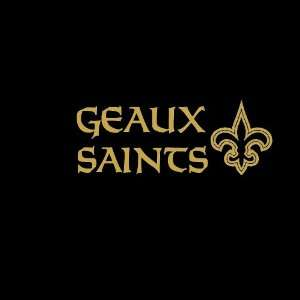 Geaux Saints #2 Car Window Decal Sticker Metallic Gold 7 Automotive