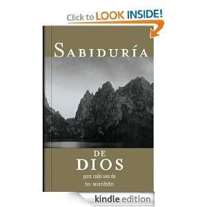 Sabiduria de Dios para cada una de tus necesidades (Spanish Edition