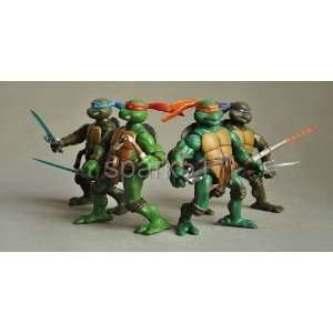 tmnt teenage mutant ninja turtles 6 figure set original