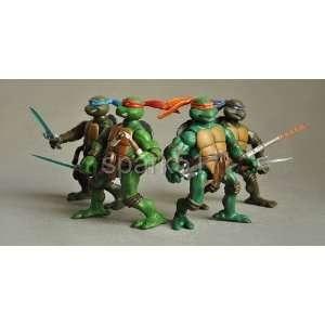 tmnt teenage mutant ninja turtles 6 figure set original