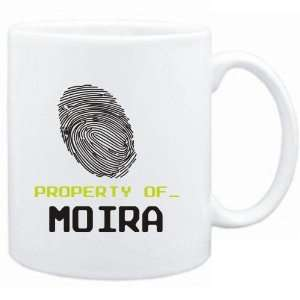 Mug White  Property of _ Moira   Fingerprint  Female