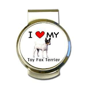 I Love My Toy Fox Terrier Money Clip