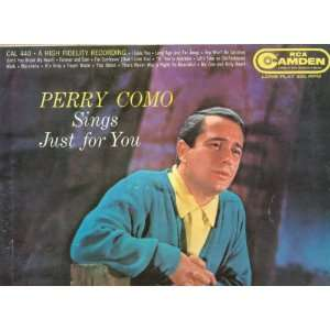 [LP Record] Perry Como   Sings Just for You: Music