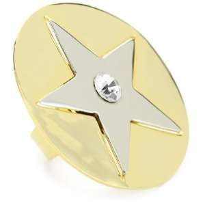 Joanna Laura Constantine Star Disk Adjustable Ring, Size 7