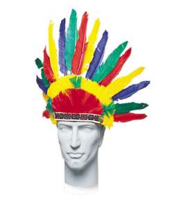 Hats, Wigs & Masks > Hats Cowboy/Indian > Indian Feather Headress