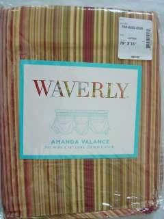 Waverly Amanda Serene Stripe Antique Valance 79x16