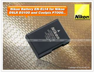 Genuine Nikon Battery EN EL14 for P7000 D3100 # B090