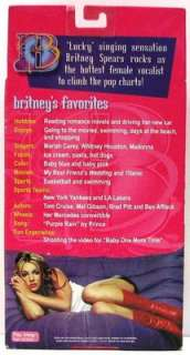 2001 BRITNEY SPEARS 6 Celebrity Doll ~ MIMB NRFB Play Along #23500