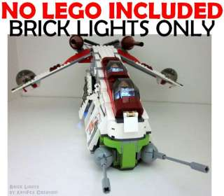 Lego BRICK LIGHT Star Wars Republic Attack Gunship 7676