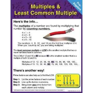 Pre Algebra Chart: Multiples and Least Common Multiple