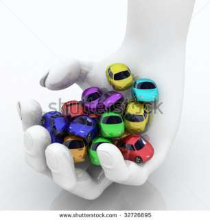 Handful Of Colored 3d Cartoon Cars Stock Photo 32726695  Shutterstock