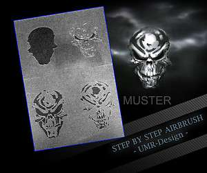 Airbrush Stencil Template 4 Steps AS 032 M Size 5,11 x 3,95