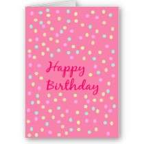 Modern stylish Birthday Card doted pattern by TranquilOlive