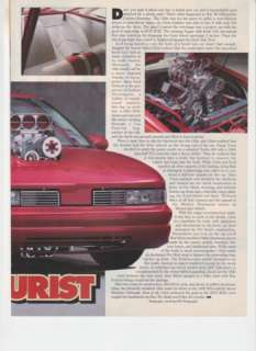 1990 Oldsmobile Cutlass Pro Street Article From 1992