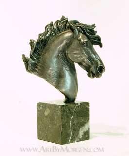 Aluminum Baroque Horse Head Bust