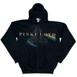 Pink Floyd   Dark Side Lyrics Zip Hoodie   Large
