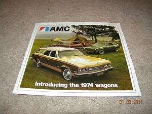 1974 AMC HORNET SPORTABOUT AMBASSADOR WAGON BROCHURE