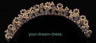 Headpiece Tiara Pearls Crystals Rhinestones Wedding Bridal Brand New
