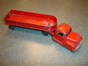 Vtg Antique Collectible Diecast Tootsietoy Toy Semi Truck Made In USA