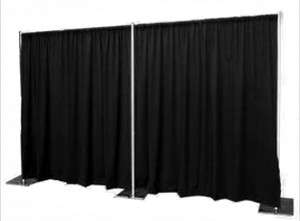 6FT Tall Black Drape and Pipe Backdrop Package (2 Complete Sets