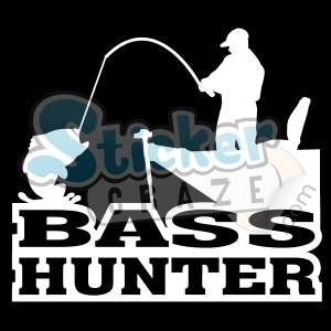 FISH BASS BOAT FISHING STICKER/DECAL CHOOSE SIZE/COLOR