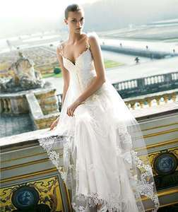 Sweet white Lace Wedding Evening Dress Bridal Ball Prom Gown Size