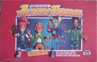 1991 BURGER KING KIDS CLUB ACTION FIGURES POSTER