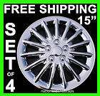 15 CHROME HUB CAPS WHEEL COVERS RIM WHEELS RIMS TRIM