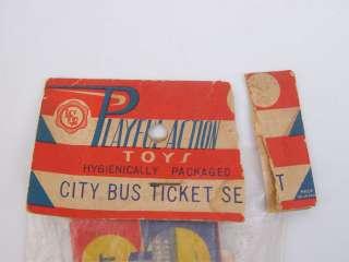 Vintage Antique Toy City Bus Ticket Set Playful Action