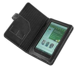 Nook Color / Nook Tablet Leather Cover Case   Black