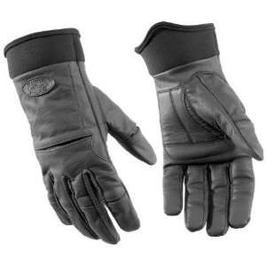 River Road Chisel Matte Black Leather Motorcycle Gloves (Mens & Womens