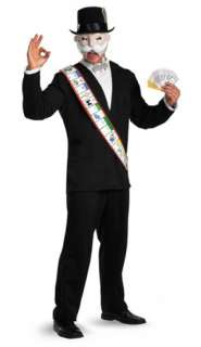 Adult mens costume mr. Monopoly game rich uncle pennybags halloween xl