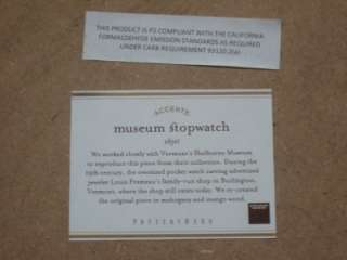 MUSEUM CRAFT COLLECTION POCKET WATCH WALL DECOR~MANGO WOOD~