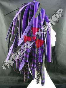 CYBERLOX DREAD GOTH PURPLE BLACK SPIDER HAIR FALLS