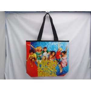 HIGH SCHOOL MUSICAL SHOPPING TOTE BAG, Black with Blue/Red