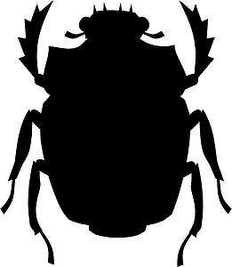 Egyptian Scarab Beetle Decal 3.75x3.25 choose color! vinyl sticker