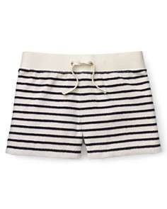 Juicy Couture Girls Sunshine Stripe Terry Shorts   Sizes 7 14
