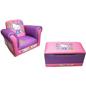 Hello Kitty Rocking Chair and Toy Box Value Bundle