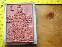 GOLDEN GREETINGS RETRIEVER DOG CHRISTMAS TREE Rubber Stamp STAMPA