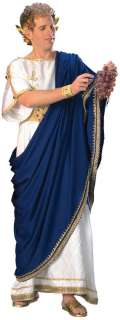 TOGA COSTUME MEN GREEK GOD JULIUS CAESAR ZEUS NERO TUNIC ROMAN ROBE HQ