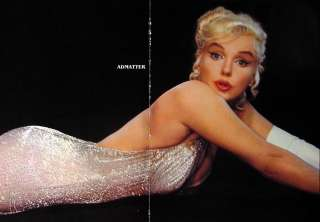Marilyn Monroe Old Pin up Centerfold Poster WHITE HOT