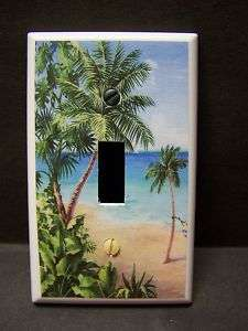 PALM TREE TROPICAL BEACH #10 SINGLE LIGHT SWITCH COVER